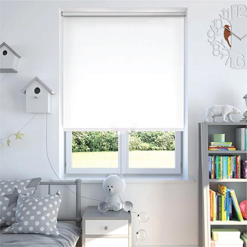 ม่านม้วน  Blackout100% ระบบโซ่ดึง (DIY) สีขาว